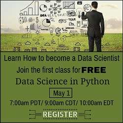 Free Online Data Science with Python Demo Class