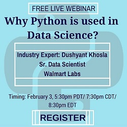 Free Live Webinar: Why is Python used in Data Science?