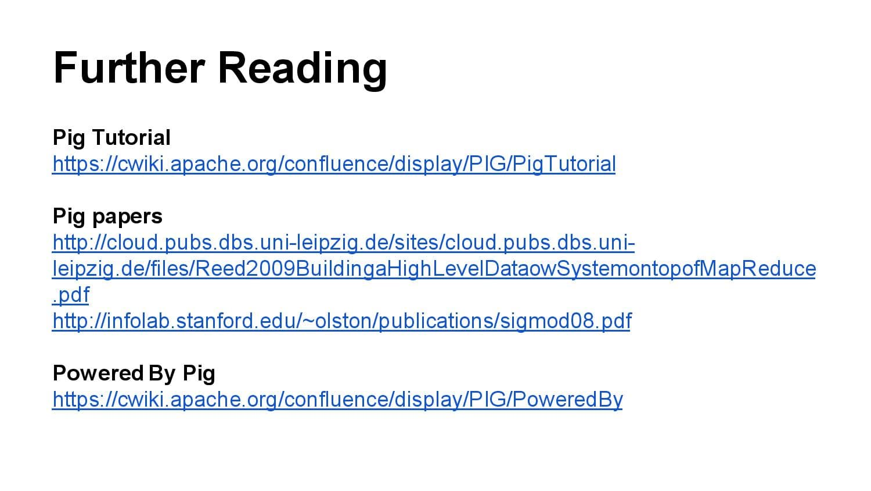hadoop component apache pig, online hadoop course