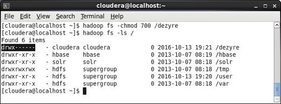 chmod Hadoop fs command