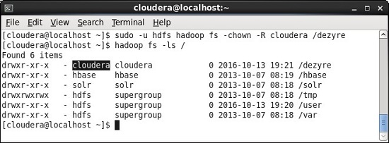 chown hadoop command