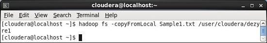 CopyFromLocal HDFS Command