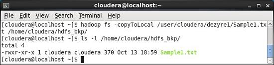 CopyToLocal Hadoop Command