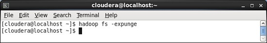 Hadoop HDFS Expunge Command