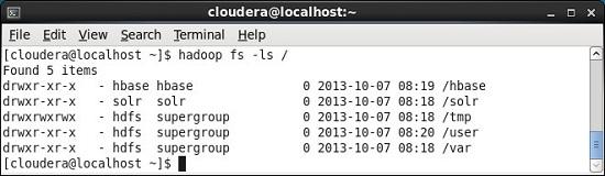 hadoop fs commands ls /