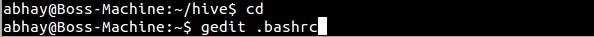 Hadoop Configuration File .bashrc