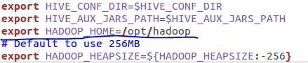 Hive Hadoop Configuration File