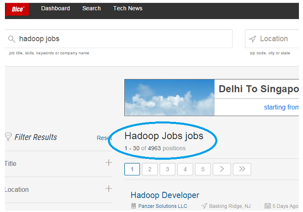 Big Data Hadoop Jobs on Dice