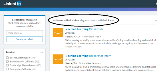 Machine Learning Jobs at Amazon