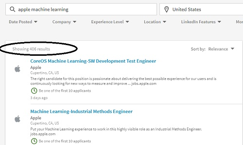 Apple Machine Learning Jobs
