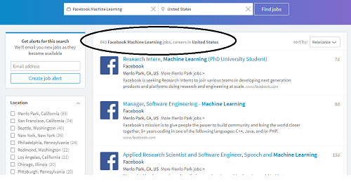 Machine Learning Jobs at Facebook