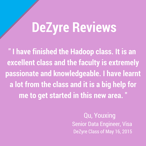 DeZyre Reviews: Online Hadoop Training Class of May 16 2015