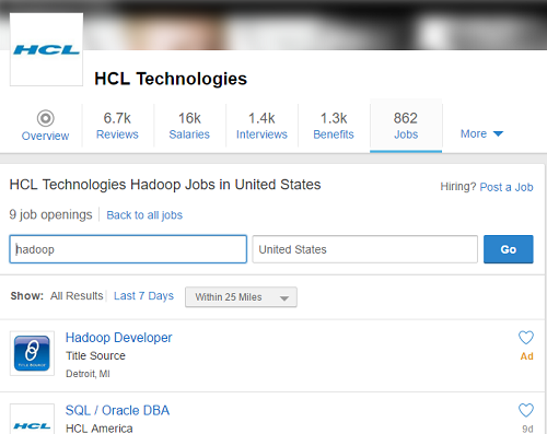 HCL Hadoop Interview Questions