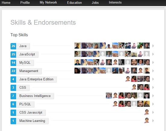Skill Endorsements Data Products at LinkedIn