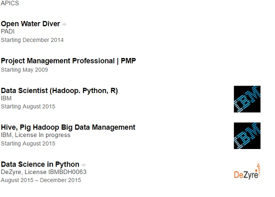 Adding Hadoop Certification