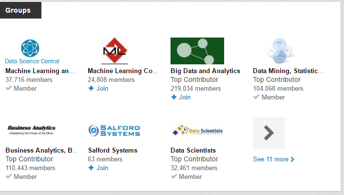 Top Big Data LinkedIn Groups
