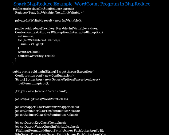 Spark MapReduce Example-Wordcount Program in Hadoop MapReduce