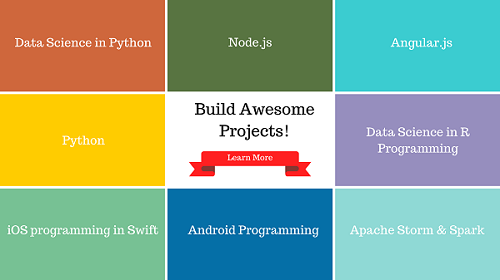 Build Awesome Projects in Data Science, Mobile Development and Web Development
