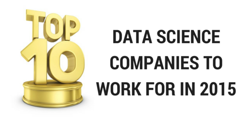 Top Data Science Companies to work for in 2015