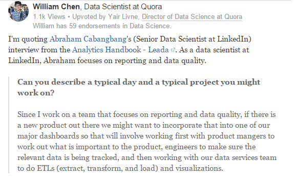 What's a typical day like for a data scientist at LinkedIn?