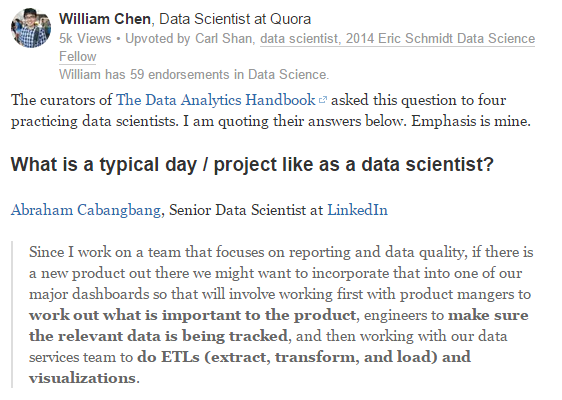 What's a typical day like for a data scientist at LinkedIn
