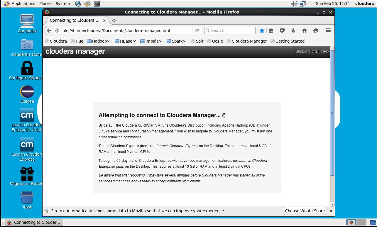 Cannot connect to cloudera manager | DeZyre