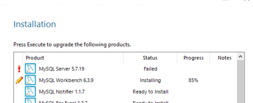 MySQL Server Installation failed | DeZyre