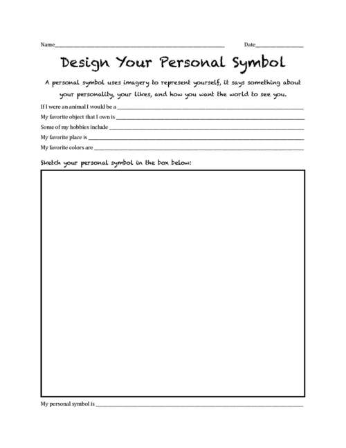 Printables Symbolism Worksheets digication e portfolio kristin stabin mat teacher user uploaded content personal symbol design worksheet