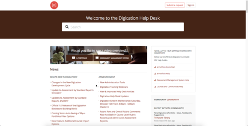 Faculty And Students Are Asked To Contact The Digication Help Desk Directly  At Support@digication.com.