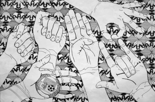 Digication e-Portfolio :: Erin McGinnis :: Contour Hand Drawing