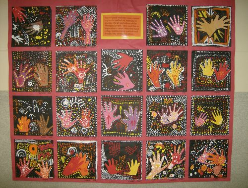 photos of aboriginal dot art. Aboriginal hand print dot