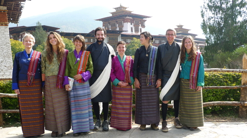 2015 Study Abroad Students in Bhutan, east of Nepal