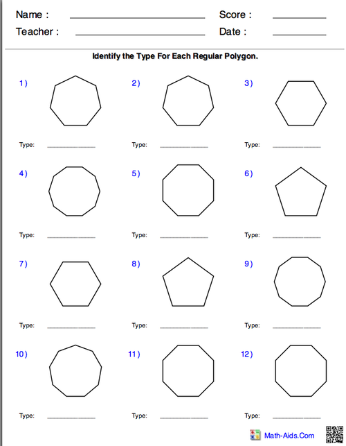 Digication ePortfolio Kirsten Youngbloods Math 257 Project – Regular Polygons Worksheet