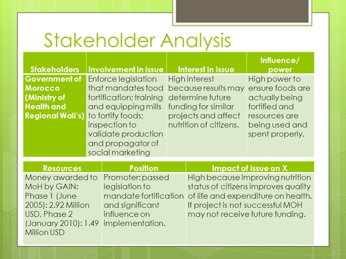 Stakeholder Analysis Sample Stakeholder Analysis Stakeholder – Stakeholder Analysis Sample