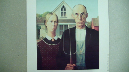 Pizza Box Fundraiser I Originally Wanted 4th Grade To Create A Parody Based On The Famous American Gothic Painting By Grant Woods Here They Are