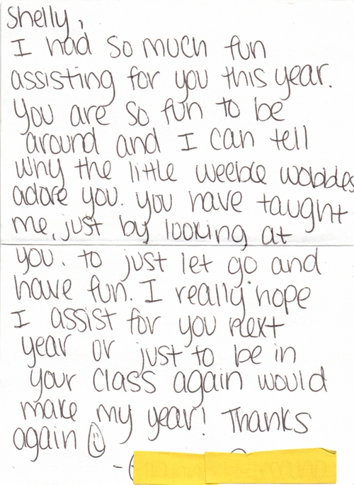 letters from students