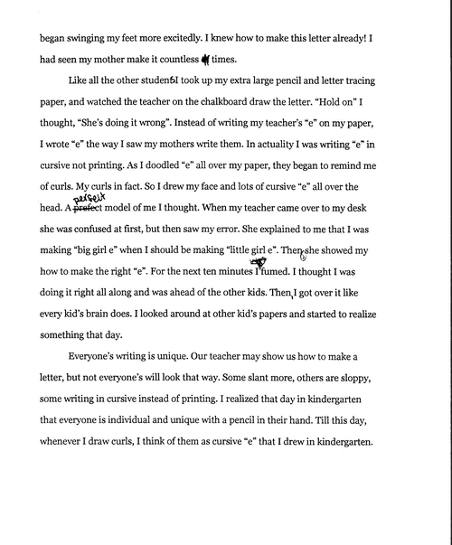 Literacy Narrative Example Image Collections Example Cover Letter