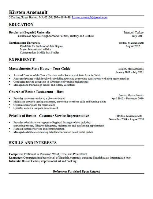 user uploaded content - Resume Qualifications
