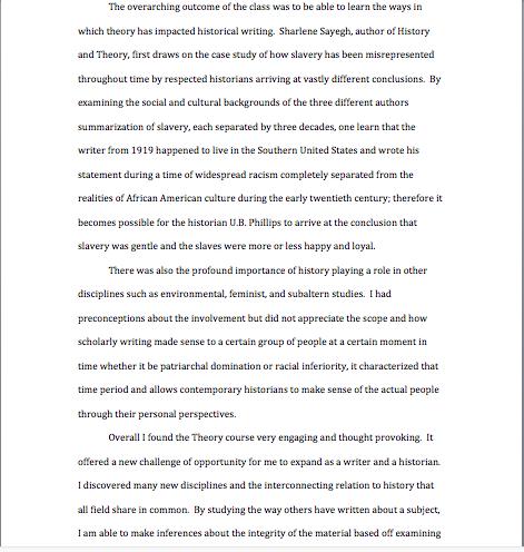 self reflection essays