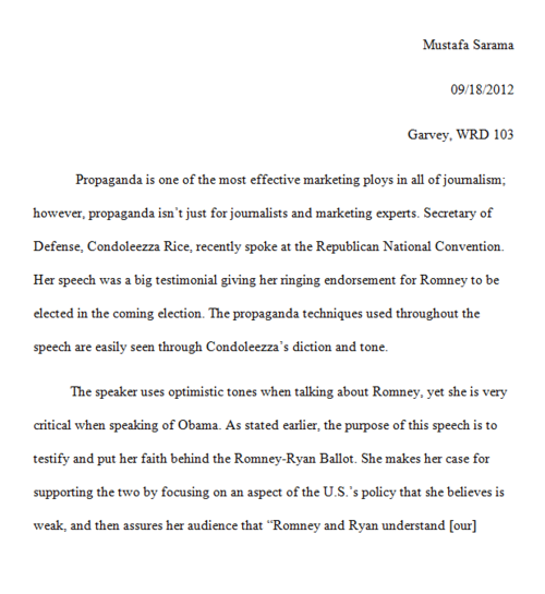 formal essays - Example Of A Rhetorical Essay