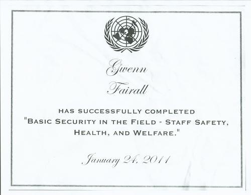 Digication e-Portfolio :: Gwenn Fairall :: UN Basic Security in ...