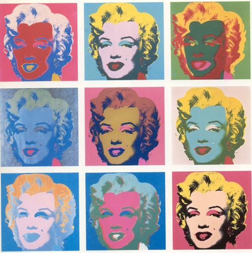 In His Painting Four Jackies Warhol Uses A Pallette Of Cool And Dark Tones Color Choices Create Feeling Detachment