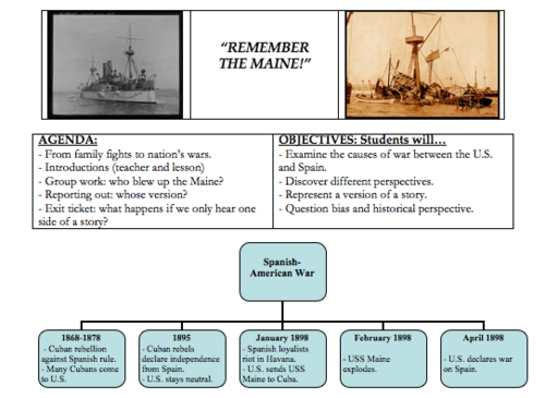 Digication ePortfolio Benjamin Weber Teaching Portfolio – Spanish American War Worksheet