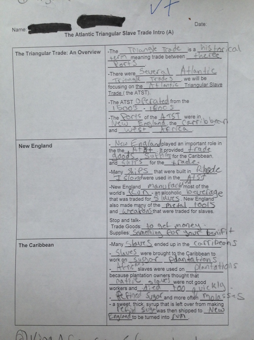 Triangle Trade Worksheet A: Slave Trade Triangle Worksheet At Alzheimers-prions.com