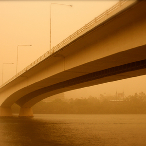 Captain Cook Bridge in the dust storm