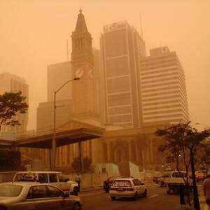 City Hall in the dust storm