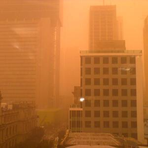 George St in the dust storm