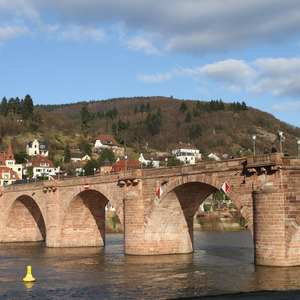 Karl-Theodore-Brücke over the Neckar river in Heidelberg