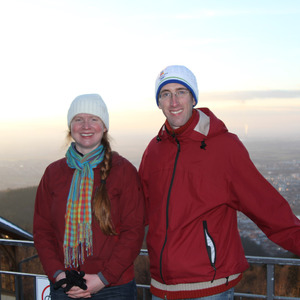Heather and I on Konigstuhl mountain