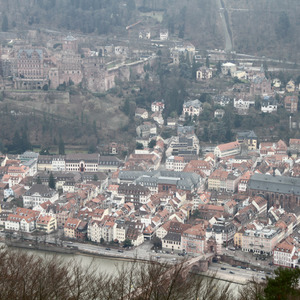 View of Heidelberg from Heiligenberg mountain
